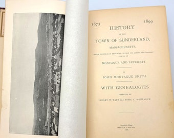 History of the Town of Sunderland, Massachusetts (1673-1899) by John Montague Smith - Franklin County