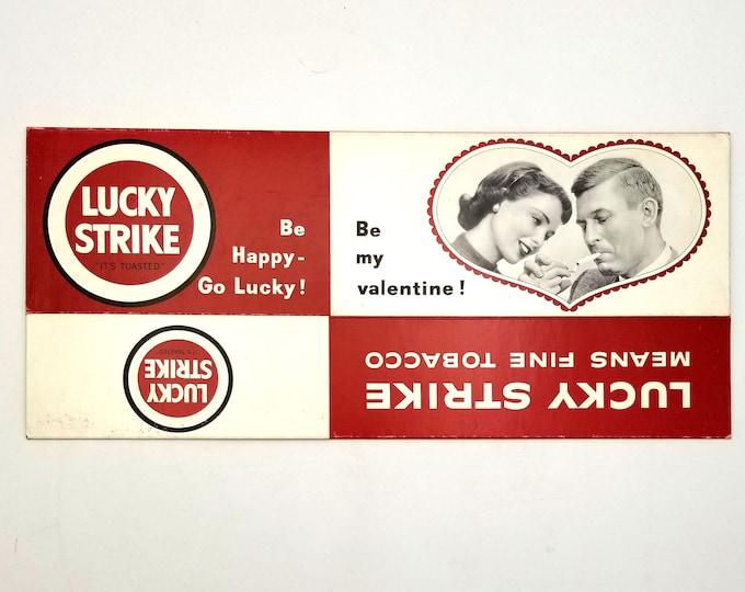 Lucky Strike empty carton - Valentine - Tobacciana - Cigarettes