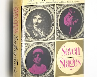 Seven Stages by Geoffrey Trease 1st edition Hardcover HC w/ Dust Jacket 1964 Wm Heinemann - British Theater Biographies