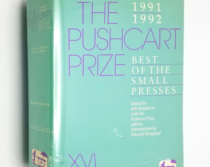 The Pushcart Prize XVI: Best of the Small Presses 1991-1992 Hardcover HC w/ Dust Jacket 1st edition - Fiction Short Stories Poetry Essays
