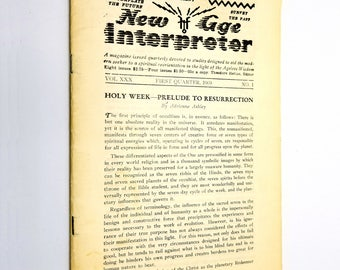 New Age Interpreter Magazine Vol. XXX No. 1, First Quarter 1969 Spirituality Wisdom