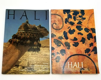Hali: The International Journal of Oriental Carpets and Textiles [2 issues - Vol. 5, no. 2 (1982) and Vol. 7, no. 1 (Jan 1985)]