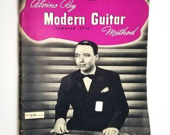 Alvino Rey Modern Guitar Method (Hawaiian Style) 1937 Robbins Music Corp Sheet Music Songbook Instruction