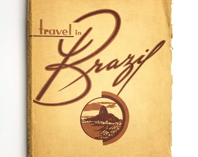 Vintage New York World's Fair Book: Travel in Brazil 1939 Soft Bound Photography Culture Exploration