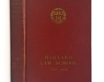 Harvard Law School Yearbook 1937-1938 - Volume 1 - Cambridge, Massachusetts / MA - Includes History of School