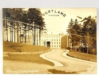 Photo of Multnomah County Hospital, Portland, Multnomah County, Oregon (circa 1930) OHSU Pill Hill