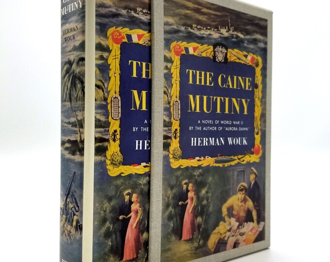 The Caine Mutiny by Herman Wouk Hardcover and Dust Jacket in Slipcase First Edition Library Facsimile w/ Information Card
