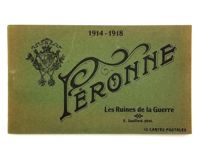 Postcard Book: Peronne Les Ruines de la Guerre - World War I - Ruins - France - WWI - 1919