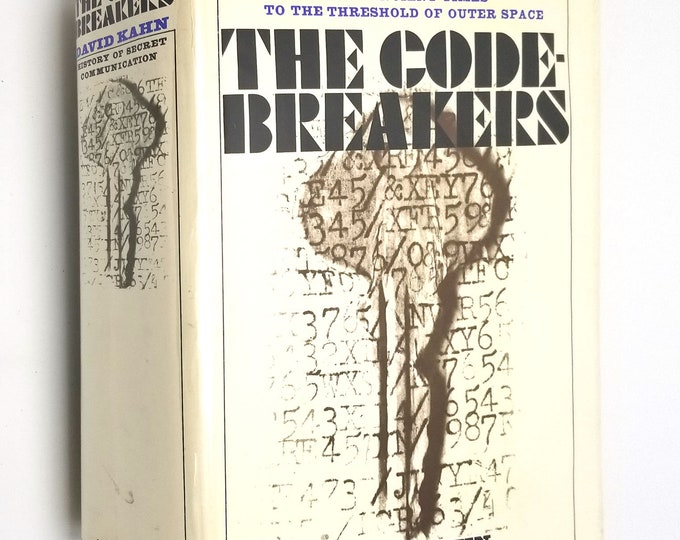 The Codebreakers: The History of Secret Writing by David Kahn 1st US edition Hardcover HC w/ Dust Jacket 1967 Cryptography
