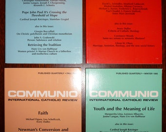 Communio: International Catholic Journal 1995 Volume 22 Full Year (Lot of 4) David L. Schindler (ed.) Religion
