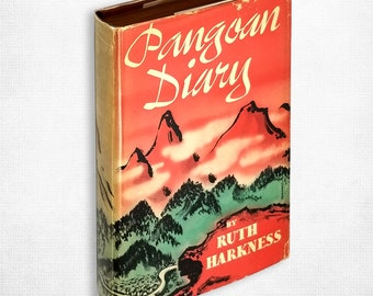 Vintage Travel Peru: Pangoan Diary by Ruth Harkness 1st Edition Hardcover w/ Dust Jacket 1942 Creative Age Press