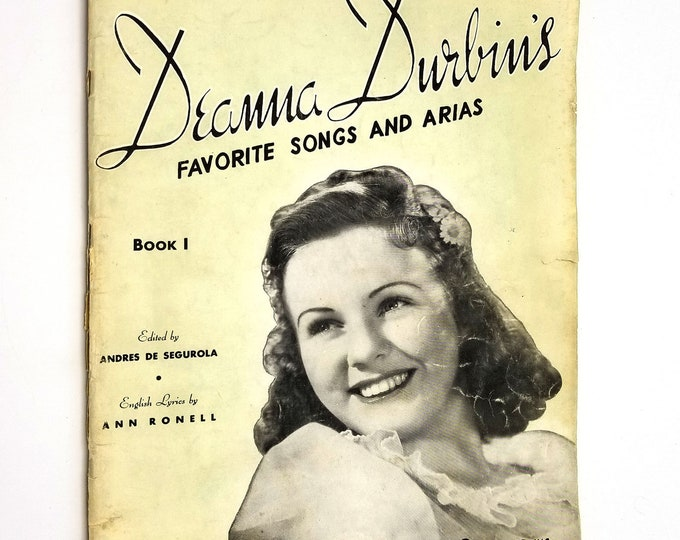 Deanna Durbin's Favorite Songs and Arias 1939 G. Schirmer, Inc. Sheet Music Songbook
