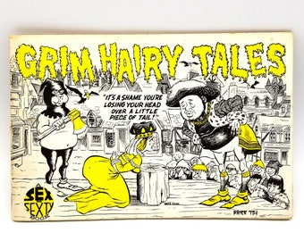 Grim Hairy Tales (A Sex to Sexty book) 1966 by Richard Rodman illustrated by Denis Jones - 1960s - Humor - Cartoons - Risque