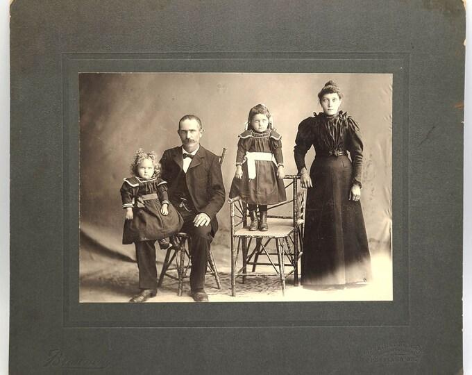 photograph Italian-American Family Portrait - Luigi Curletto Family, Portland, Oregon circa 1900 Rosetto, Aho