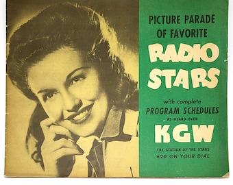 Picture Parade of Favorite Radio Stars ~ Radio Schedule ~ KGW ~ NBC Network ~ Portland, Oregon ~ 1943