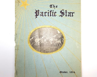 The Pacific Star (October 1914) Literary Journal Mt Angel College/Semiary Oregon ~ World War I Era