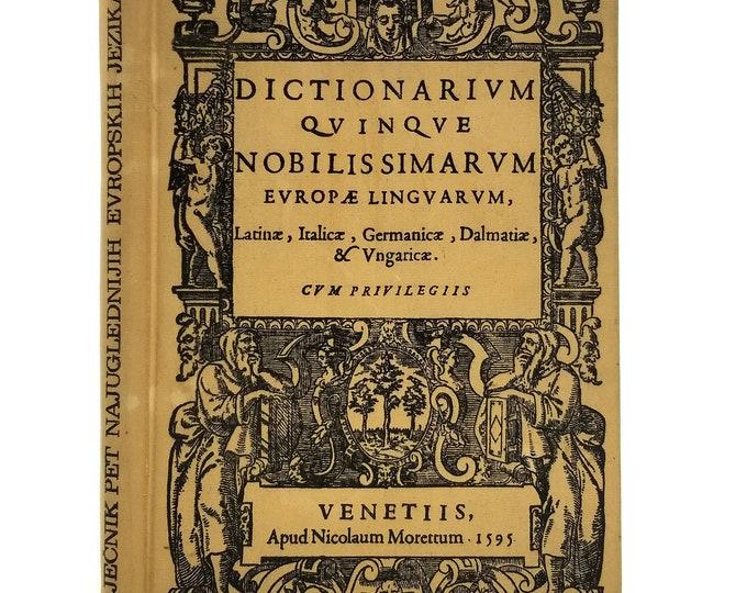 Dictionarium Quinque Nobilissimarum Europae Linguarum Hardcover Hardcover Faust Vrancic 1971