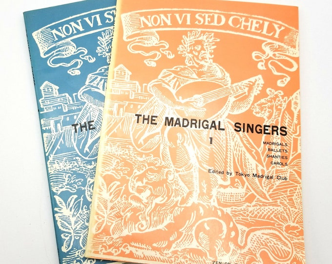 The Madrigal Singers Books 1 & 2 by Tokyo Madrigal Club (eds) Sheet Music / Song Books Ca. 1980s