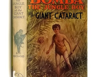 Bomba the Jungle Boy at the Giant Cataract by Roy Rockwood Hardcover HC w/ Dust Jacket DJ Ca. 1929 Cupples & Leon - YA Fiction