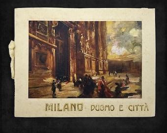 Vintage Photo Souvenir: Milano - Duomo e Citta Italy Ca. 1920 City of Milan and Cathedral
