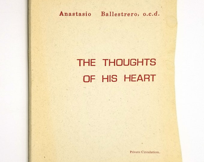 The Thoughts of His Heart by Archbishop Anastasio Ballestrero 1977 Daughters of Our Lady of the Sacred Heart Rome Catholic Religion