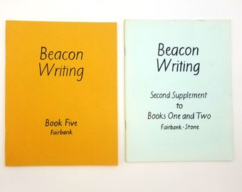 Beacon Writing: A Course in Italic (Book Five & Second Supplement to Books One and Two) 1978 Alfred Fairbank - Calligraphy - Handwriting