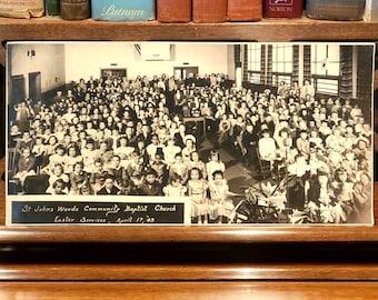 Photograph Easter Service - St. Johns Woods Community Baptist Church, April 17, 1949 [Portland, Oregon] Multnomah County