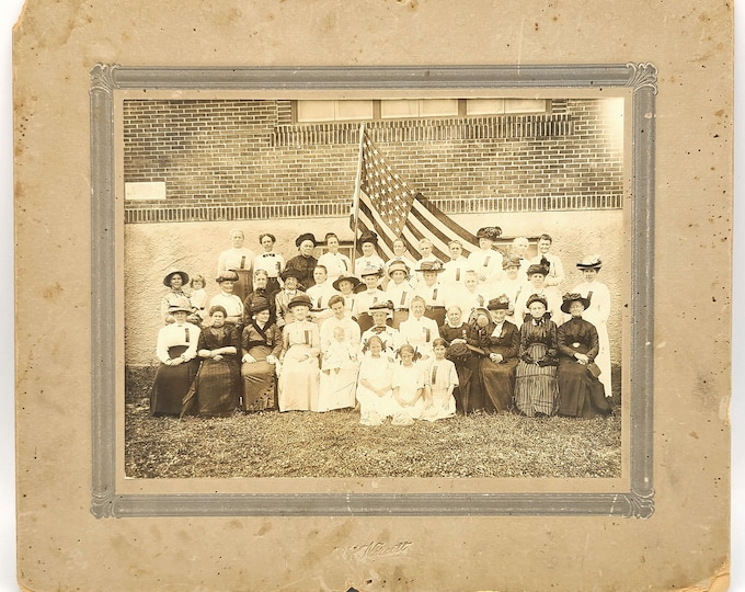 Photograph WCTU Southern Oregon group of women 1912 Suffrage Ashland Medford Grants Pass WCTU Ladies Club