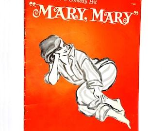 "Jean Kerr's ""Mary Mary"" Program Circle Star Theatre. San Carlos, CA 1965 Barbara Bel Geddes Jack Cassidy Scott McKay"