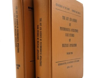 Art & Science of Psychological Operations: Case Studies of Military Application Hardcover HC 1976 Two Volume Set