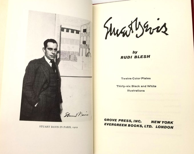 Modernist Artist Profile / Biography: Stuart Davis by Rudi Blesh Hardcover Hardcover 1960 Grove Press