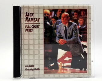 Jack Ramsay: Full Court Press 2 CD Set Audio Coaching Guide Biography 1994 Issue Records Portland Trail Blazers NBA Coach