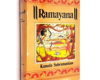 Ramayana by Kamala Subramaniam 1983 Hardcover HC w/ Dust Jacket Bharatiya Vidya Bhavan Hindu Epic Indian Poem