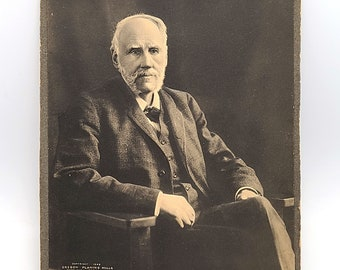 Raised photograph SIGNED George H Williams - United States Attorney General  - Oregon Portland