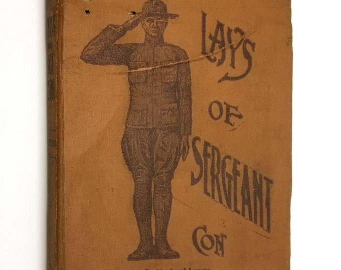 Lays of Sergeant Con by Norbert Lyons SIGNED Soft Cover 1914 The Times Press Manila Philippines