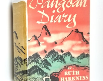 Pangoan Diary by Ruth Harkness Hardcover HC w/ Rare Dust Jacket DJ 1942 Creative Age Press - Satipo Peru - Jungle