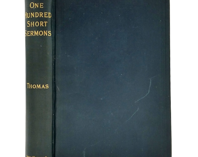 One Hundred Short Sermons by H.J. Thomas 1859 Hardcover HC Catholic Religion - John Murphy Co.