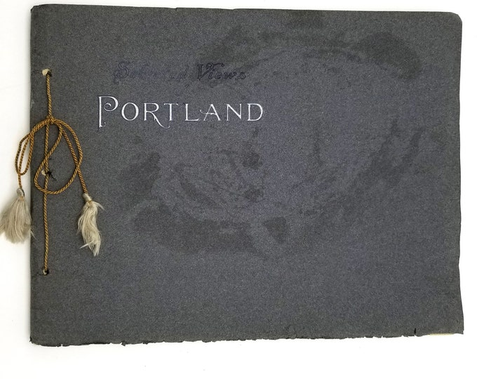 Antique Photo Book: Sketches of Portland Photography Souvenir Book Ca. 1910 Portland, Oregon J.K. Gill
