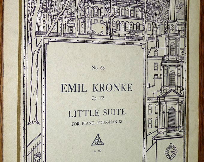Little Suite for Piano, Four-Hands - The Primo Part Within Five-Note Compass Op. 135 by Emil Kronke Boston Music Company 1916