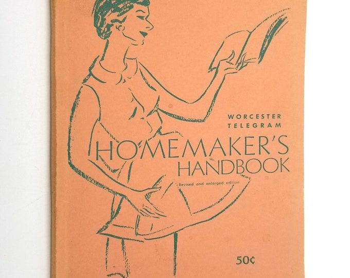 Homemaker's Handbook (Revised & Enlarged EditionI) by Peggy Wood, Women's Exchange, Worcester Telegram Evening Gazette 1960s