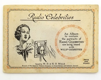 cigarette cards Radio Celebrities Complete Filled Booklet 1st Series 1934 Wills - Tobbacciana