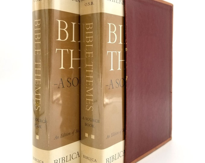 Bible Themes: A Source Book Vols I & II (2 Volume Set in Slipcase) by Thierry Maertens Hardcover HC w/ Dust Jacket 1964