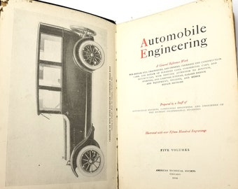 Automobile Engineering: A General Reference Work - Volume III Hardcover (Limp Cover) 1919 American Technical Society
