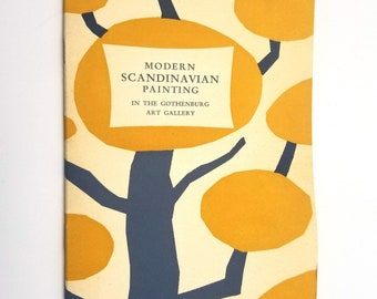 Modern Scandinavian Painting in the Gothenburg Art Gallery by Nils Ryndel 1952 Soft Cover - Sweden