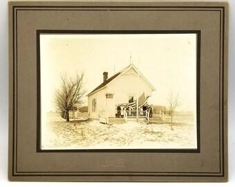 Photograph: Schoolhouse Mower County Minnesota (December 1916) Miss Ella Dahle - Austin - Red Rock - Brownsdale - Rose Creek