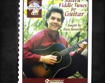 Music Instruction: Sixteen Fiddle Tunes for Guitar Taught by Russ Barenberg 2005 Homespun Video - Includes CD