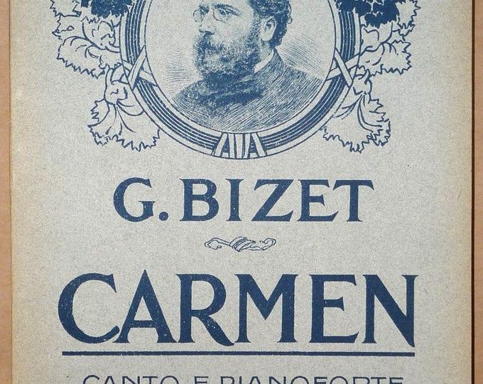 Carmen: Dramma Lirico in Quattro Atti Giorgio Bizet Ca. 1910 G. Ricordi - Opera - Voice Piano Music Score