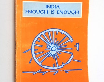 India: Enough is Enough by Amrit Lal SIGNED 1st Edition Soft Cover 1995 Virgo Publications New Delhi