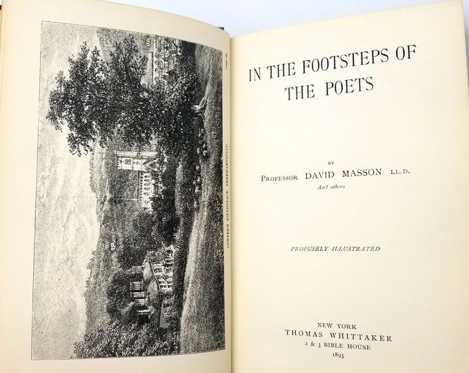 In the Footsteps of Poets by David Masson Hardcover 1893 British Poets - Literary Criticism with Biographical Info