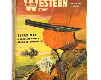 Street and Smith's Western Story Magazine March 1948 Allan Bosworth Novel